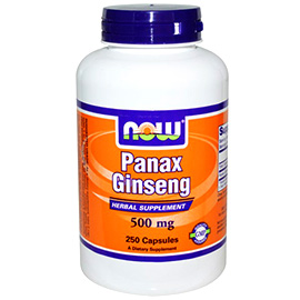 NOW Foods bottle of panax ginseng