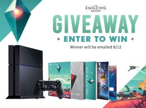 Playstation 4 giveaway with no man's sky bundle