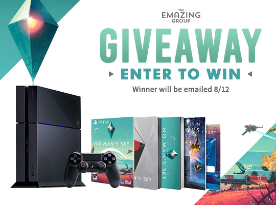 Limited edition No Man's Sky PS4 Bundle Contest