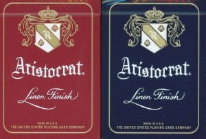 Red and blue decks of the aristocrat playing cards