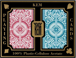 KEM Playing Cards in their case