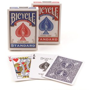 Bicycle standard playing cards featuring a red king and an ace