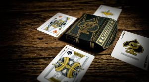 run playing luxury cards featuring a king and red queen