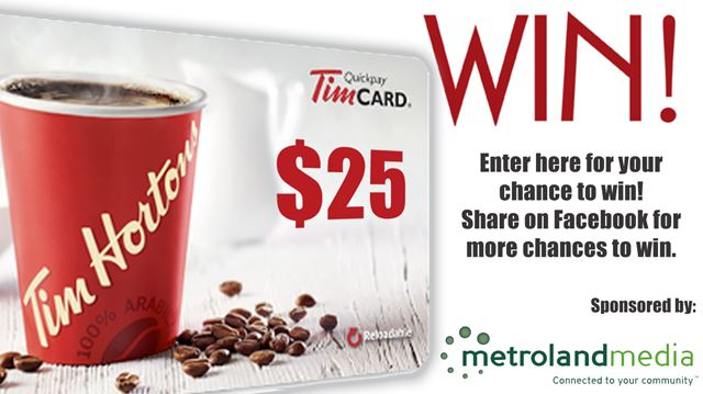 Tim Horton's $25 Gift Card Contest