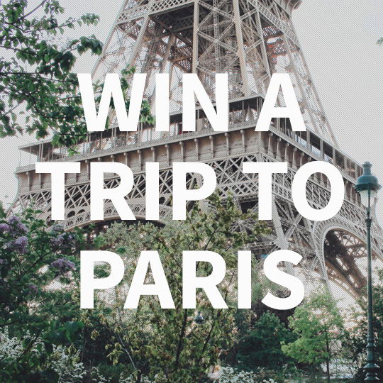 Free trip to Paris giveaway